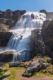 Dynjandi waterfall Royalty Free Stock Images