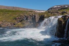 Dynjandi waterfall Stock Photography
