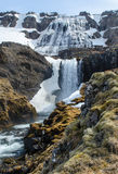 Dynjandi waterfall. In the Westfjords of Iceland stock photo