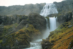 Dynjandi waterfall. In Westfjords, Iceland Royalty Free Stock Images