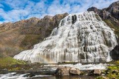 Dynjandi waterfalls, Western Fjords, Iceland Royalty Free Stock Photo