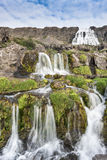 Dynjandi waterfalls, Western Fjords, Iceland Royalty Free Stock Images
