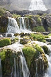 Dynjandi waterfalls, Western Fjords, Iceland. Dynjandi also known as Fjallfoss, a series of waterfalls in the Westfjords of Iceland. The waterfalls have a Royalty Free Stock Photos