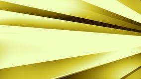 DynStripes Złocisty //4k 60fps Grże Minimalistic 3D kształtów tła Wideo pętlę ilustracji