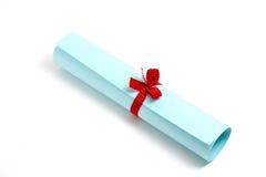 dyplom błękitny ślimacznica Zdjęcia Royalty Free