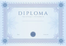 Dyplom, Сertificate nagrody szablon/. Wzór Zdjęcia Royalty Free