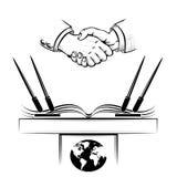 Dyplomacja royalty ilustracja