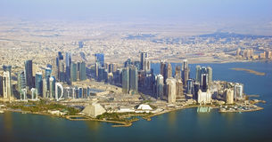Dyplomatyczny teren - Katar Obrazy Stock