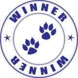 dyplomu powystawowych zwierząt domowych stemplowy zwycięzca Obrazy Stock