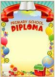 Dyplomu projekta szablon Zdjęcia Royalty Free