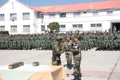 Dyplomy dla absolwentów akademia wojskowa Zdjęcie Stock