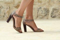 dyra skor Arkivbilder