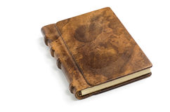 Dyrbar bok med en nobel läderräkning Fotografering för Bildbyråer