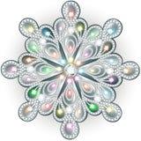 Dyrbar julsnöflingakristall Härliga smycken, medalli Royaltyfria Foton