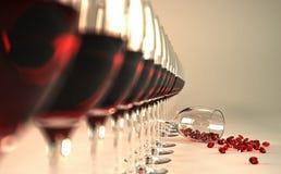 dyrbar wine Royaltyfria Bilder