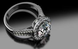 Dyrbara Diamond Ring vektor illustrationer
