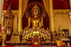Dyrbart Buddhaaltare med otaliga buddhas Royaltyfria Bilder