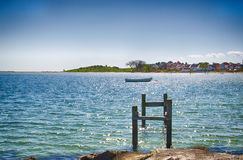 Dyreborg coastline on the island of Funen. Dyreborg is a very charming and cosy little town on the south coast of Funen Royalty Free Stock Photo