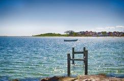 Dyreborg kustlinje på ön av Funen Royaltyfri Foto