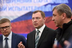 Dyrektor generalny JSC Rosyjskie siatki Oleg Budargin Zdjęcia Royalty Free