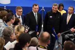 Dyrektor generalny JSC Rosyjskie siatki Oleg Budargin Obrazy Royalty Free