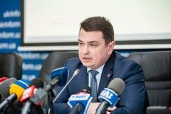 Dyrektor Krajowy korupci biuro Ukraina NABU zdjęcia stock