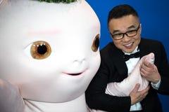 Dyrektor Raman Hui i ` Buba potwora ` poza podczas Berlinale 2018 Zdjęcie Stock