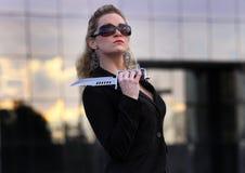dyrektor wykonawczy nóż Fotografia Royalty Free