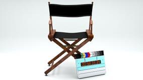 Dyrektora Clapboard i krzesło ilustracji