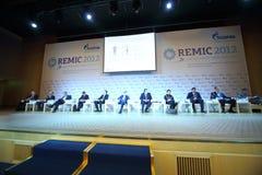 Dyrektory wiodące organizacje na konferenci międzynarodowa Zdjęcie Stock