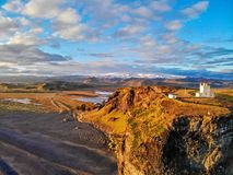 Dyrholaey Lighthouse. vik. Iceland. royalty free stock image