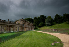 Dyrham Park House, Somerset, England. Dyrham Park is a baroque country house in an ancient deer park near the village of Dyrham in South Gloucestershire, England stock photography