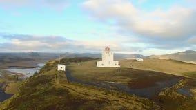 Dyrholaey海角灯塔南冰岛 股票录像