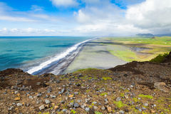 Dyrholaey海角,冰岛北海岸  免版税图库摄影