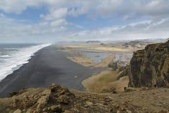 Dyrholaey, Исландия, взгляд западный Стоковые Изображения