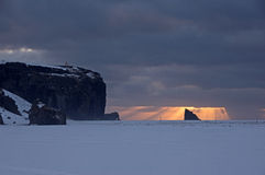 Dyrholaey, Исландия Стоковая Фотография RF