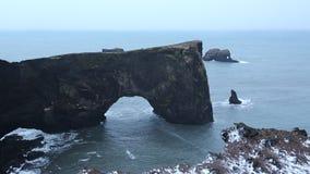 Dyrholaey Arch stock video footage