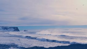 Dyrholaey bei Sonnenuntergang Island lizenzfreies stockfoto
