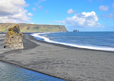 Dyrholaey black beach, Iceland Royalty Free Stock Photography