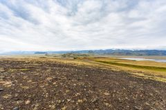Dyrholaey cape and Atlantic ocean shore in Iceland Royalty Free Stock Photos