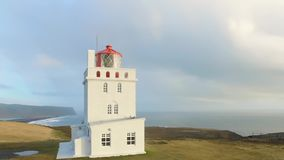 Dyrholaey Cape Lighthouse South Iceland stock video