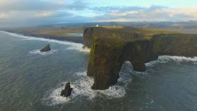 Dyrholaey Cape South Iceland stock footage