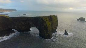 Dyrholaey Cape South Iceland stock video