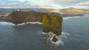 Dyrholaey Cape South Iceland stock video footage