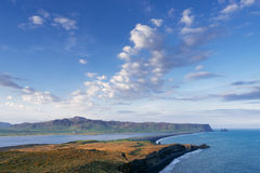 Dyrholaey cape - a tourist attraction in Iceland stock photography