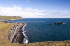Dyrholaey en Islande Photo stock