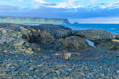 Dyrholaey, a headland in south Iceland. Landscape in Dyrholaey, a headland near the village Vik, in south Iceland royalty free stock image