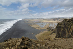 Dyrholaey, Iceland, the view west Stock Images