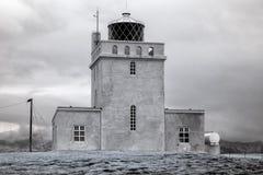 Dyrholaey Island fyr i Infrared Fotografering för Bildbyråer
