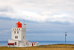 Dyrholaey lighthouse. Iceland. Built in 1927, standing on a high promontory near the southernmost point of Iceland royalty free stock photography